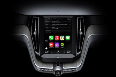 Apple's CarPlay in a Volvo SC90